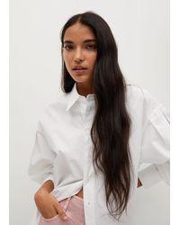 Mango - Oversize Poplin Shirt - Lyst