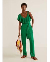 Mango Asymmetric Long Jumpsuit - Green