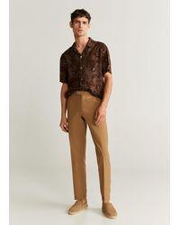 Mango Floral Flowy Shirt - Brown