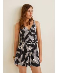 648e6d66d805 Lyst - Mango Ethnic Printed Playsuit in Natural