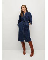 Mango Dress-style Denim Jacket - Blue