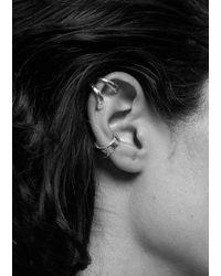 Mango Boucles d'oreilles fines relief - Métallisé