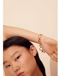 Mango Link Bracelet Gold - Metallic
