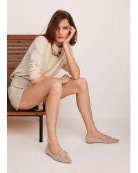 Mango - Buckle Flat Shoes - Lyst