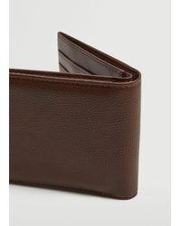 Mango Pebbled Wallet Brown