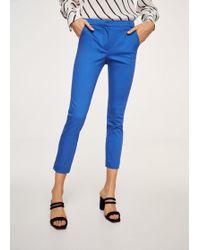 Mango | Crop Slim-fit Trousers | Lyst