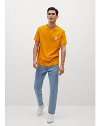 Mango Message Cotton T-shirt - Orange