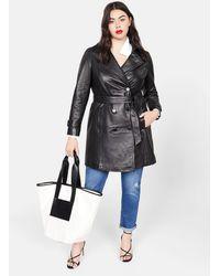 Violeta by Mango Bicolour Shopper Bag - Black