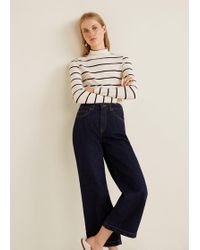 Mango - Culotte Relaxed Jeans - Lyst