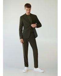 Mango Slim Fit Suit Blazer - Green