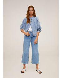 Mango Jeans Culotte High Waist Medium Blue