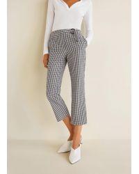 Mango - Gingham Check Pattern Trousers - Lyst