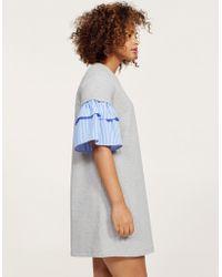 Violeta by Mango - Ruffled Sleeve Dress - Lyst