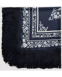 Mango - Fringes Embroidered Scarf - Lyst