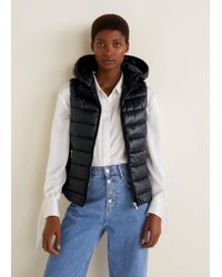 Mango - Hooded Quilted Gilet - Lyst