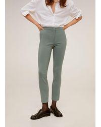 Mango Crop Skinny Trousers - Green