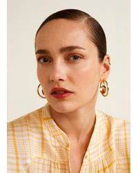 Mango - Hoop Earrings - Lyst