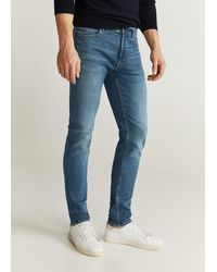 Mango Skinny Overcast Wash Jude Jeans - Blue