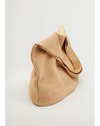 Mango Handmade Crochet Maxi Bag - Natural