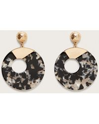 Violeta by Mango - Tortoiseshell Resin Earrings - Lyst