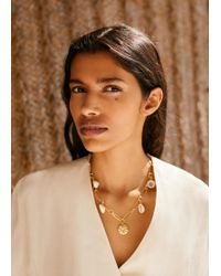 Mango - Shells Bead Necklace - Lyst