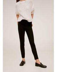 Mango Elastic Suit Trousers - Black