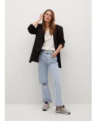 Mango Jeans vita alta Wideleg - Multicolore