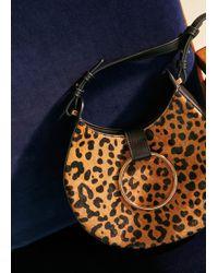 Violeta by Mango - Animal Print Leather Bag - Lyst