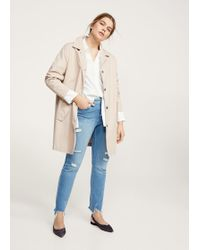 Violeta by Mango | Buttons Cotton Trench | Lyst