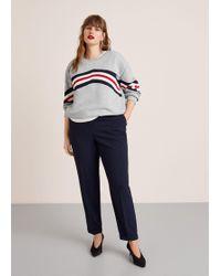 Violeta by Mango - Cotton Contrast Panels Sweatshirt - Lyst