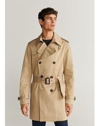 Mango Water-repellent Cotton Trench Beige - Natural