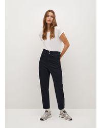 Mango Waist Straight Baggy Jeans - Blue