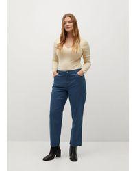 Violeta by Mango Slim-fit Trousers - Blue