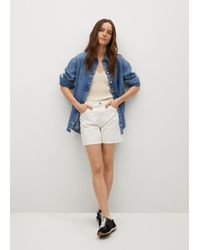 Mango Straight-fit Denim Shorts - Wit