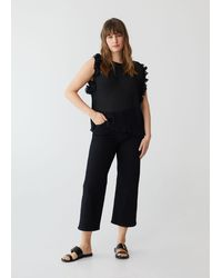 Violeta by Mango - Pleated Blouse With Ruffles - Lyst