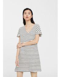 Mango - Textured Printed Dress - Lyst
