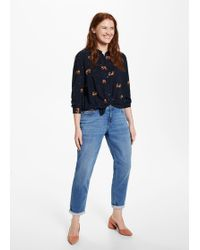 Violeta by Mango - Animal Print Blouse - Lyst