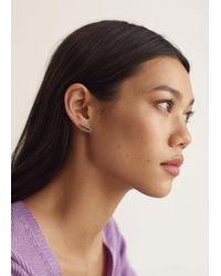 Mango Mixed Bead Earrings - Metallic
