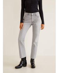 Mango - Sayana Organic Cotton Straight Jeans - Lyst