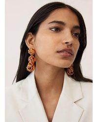 Mango Boucles d'oreilles pendantes résine - Multicolore