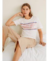 Mango Girls Printed T-shirt - Multicolour