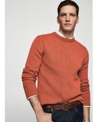 Mango - Ribbed Wool-blend Sweater - Lyst