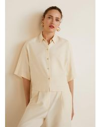 Mango - Oversize Soft Shirt - Lyst