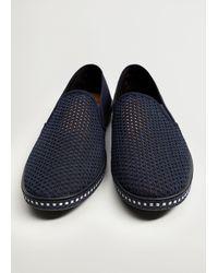 Mango Mesh Slip-on Shoes Dark Navy - Blue