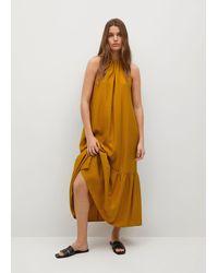 Mango - Flowy Ruffled Dress - Lyst