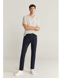 Mango Regular-fit Overhemd Met Sjaaltjesprint - Meerkleurig