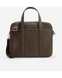 Mango - External Pocket Pebbled Briefcase - Lyst