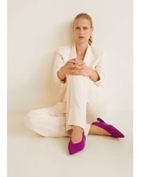 Mango - Pointed Toe Leather Shoes - Lyst