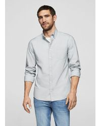 Mango - Slim-fit Cotton Oxford Shirt - Lyst