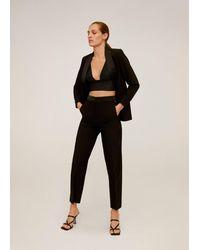 Mango Straight-fit Pantalon - Zwart